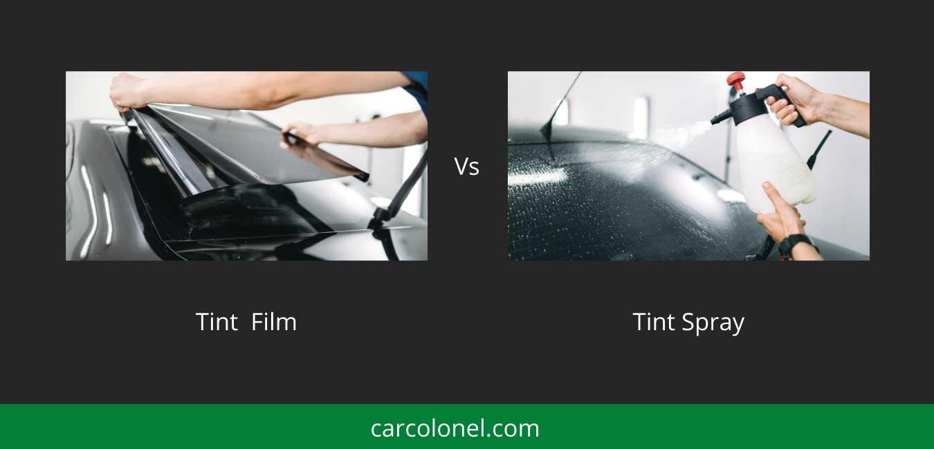 tint film vs spray